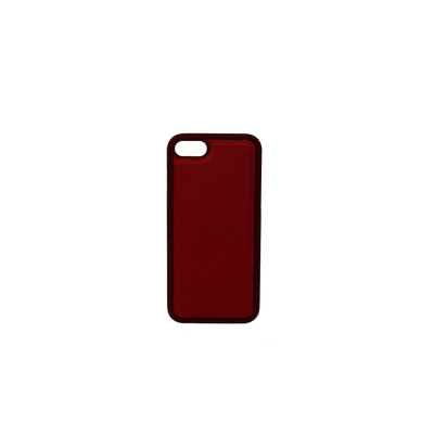 Red IPhone 7/8 Case - MAAD Collective - Saffiano IPhone Personalized Case