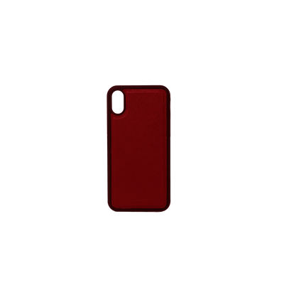 Red IPhone X/XS Case - MAAD Collective - Saffiano IPhone Personalized Case
