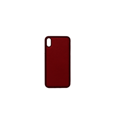 Red IPhone XS MAX Case - MAAD Collective - Saffiano IPhone Personalized Case