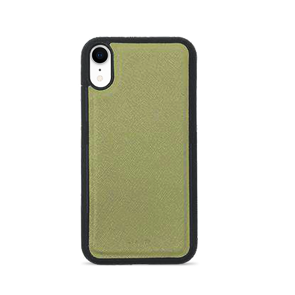Saffiano - Funda Verde IPhone XR