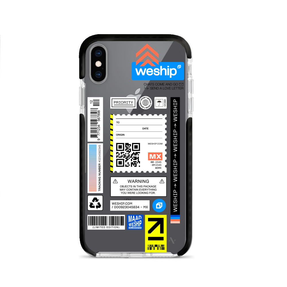 WeShip x MAAD - IPhone XS MAX Clear Case