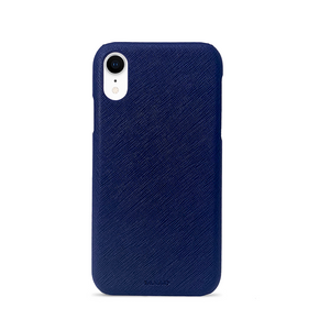 For All - Navy Blue IPhone XR Case - MAAD Collective - Saffiano IPhone Personalized Case