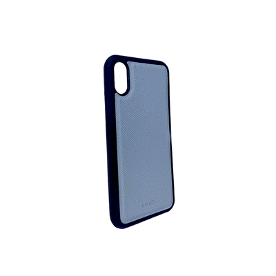 Baby Blue IPhone X/XS Case - MAAD Collective - Saffiano IPhone Personalized Case