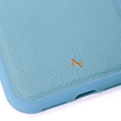 MAAD Classic - All Baby Blue IPhone X/XS Leather Case