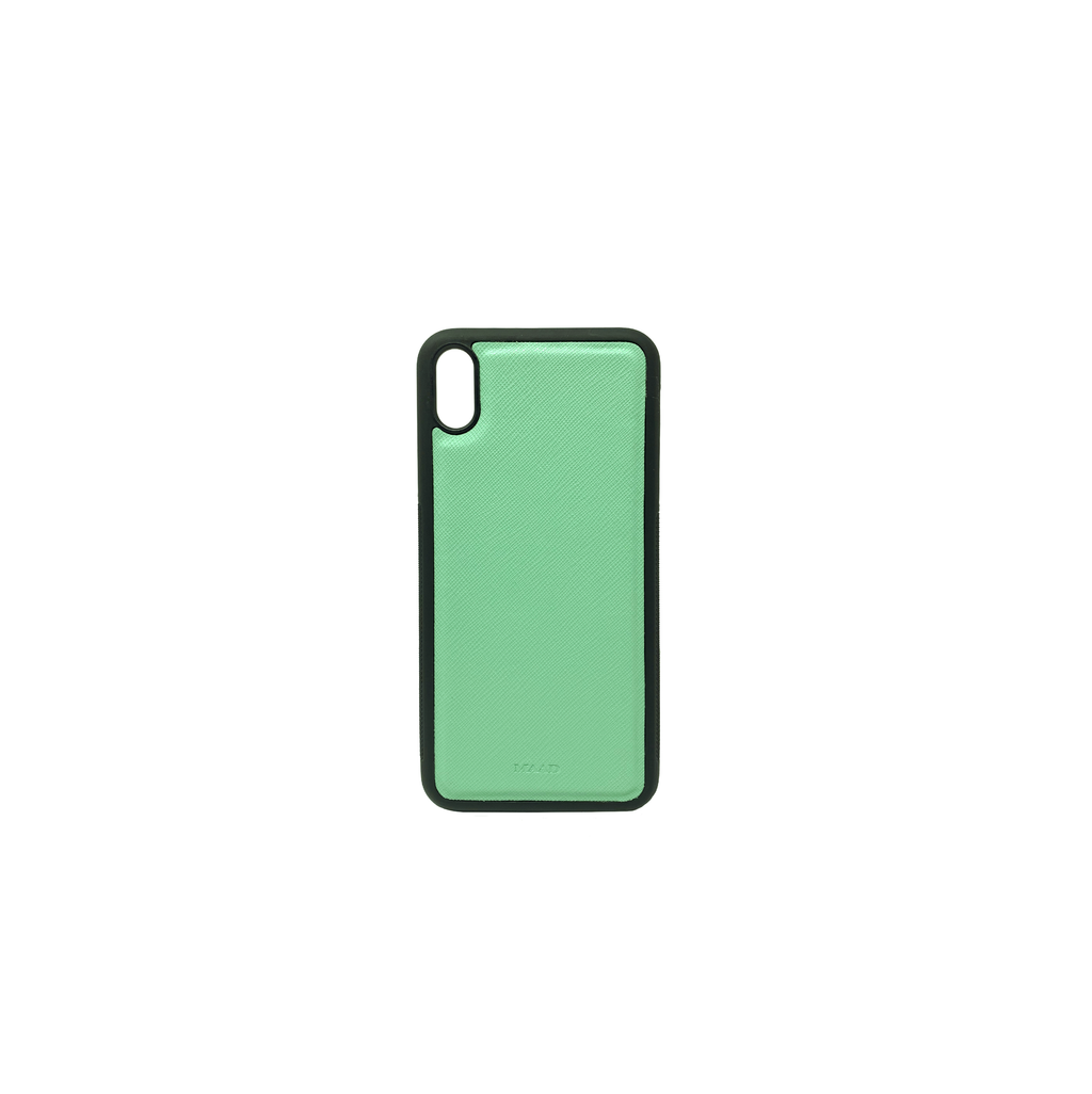 Mint IPhone XS Max Case - MAAD Collective - Saffiano IPhone Personalized Case
