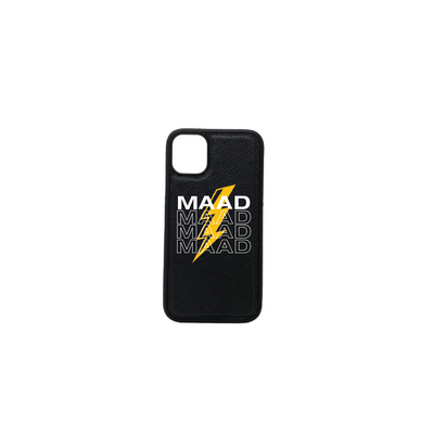 Multigram - Black IPhone 11 Case - MAAD Collective - Saffiano IPhone Personalized Case