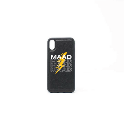 Multigram - Black IPhone XR Case - MAAD Collective - Saffiano IPhone Personalized Case