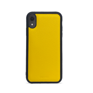 Saffiano - Funda Amarilla IPhone XR
