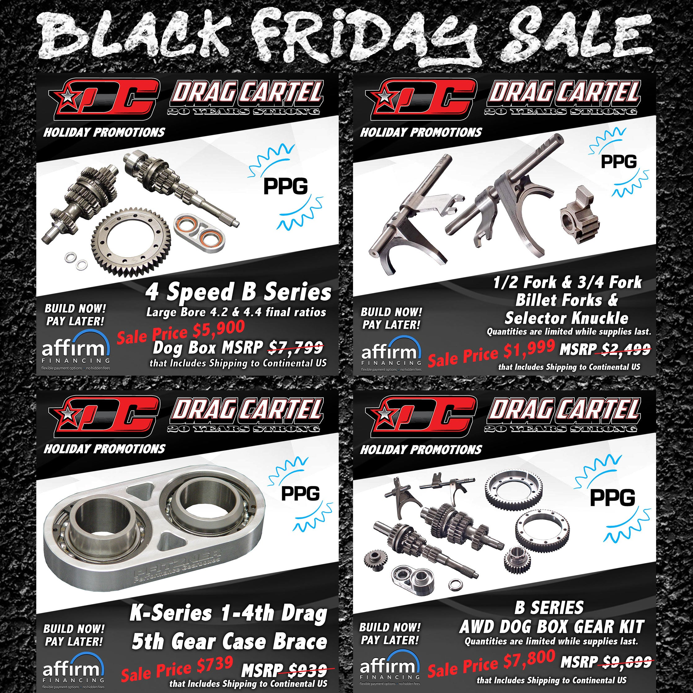 Drag Cartel K-series parts on Sales