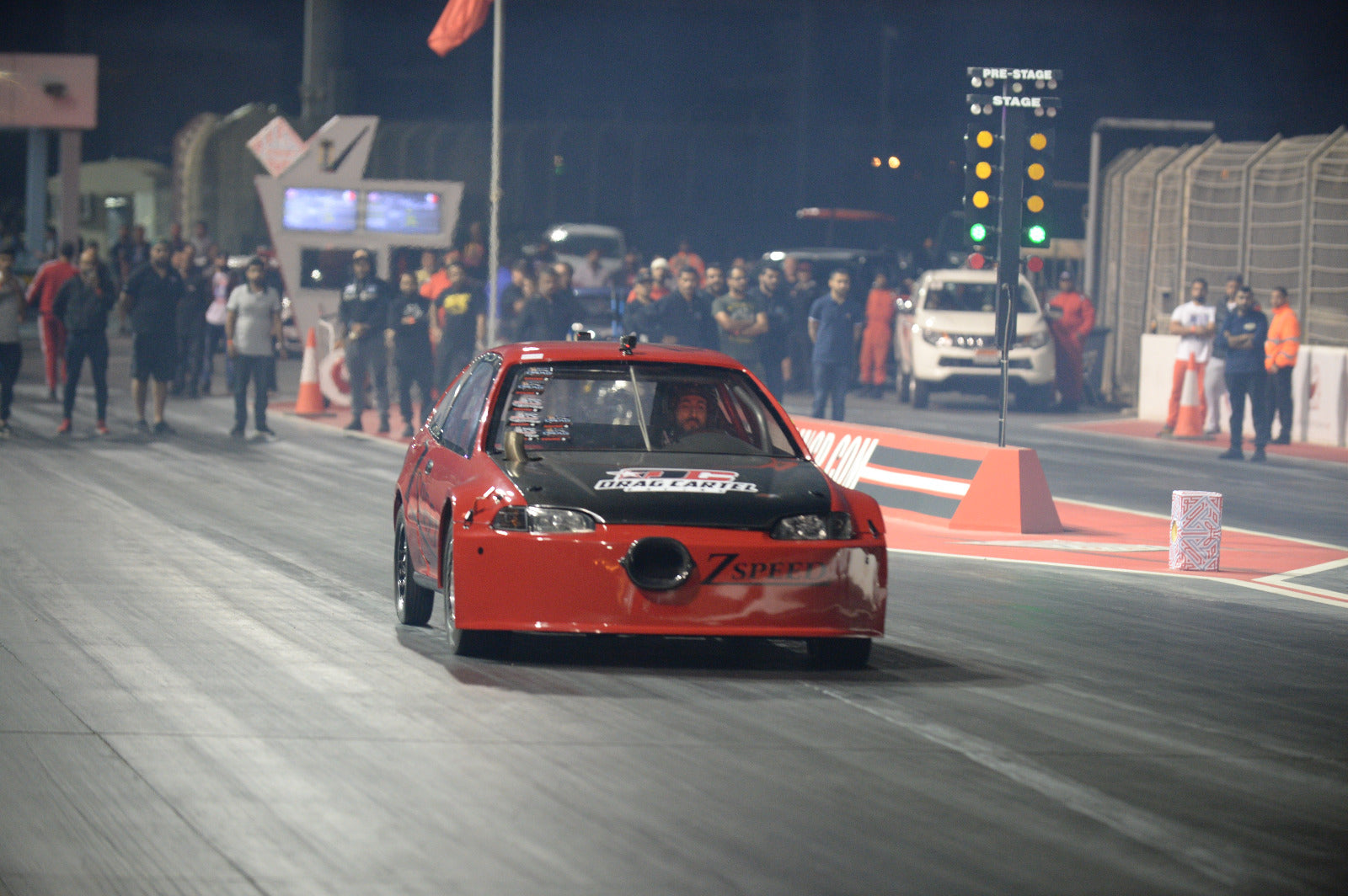 Quentin Boylan from South Africa drag racing