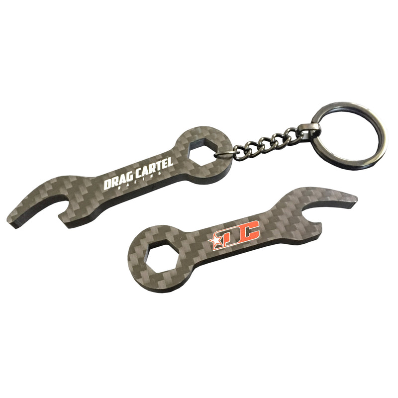 DC Themed Carbon Fiber Key Chain Wrench / Bottle Opener