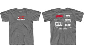 k-series t-shirt with engine parts from Drag Cartel