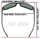 Jaxon Translucent Grey/ Glacier Blue Lens 153mm Widest Frames/XXL