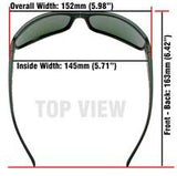 Superhero Grey/Smoke Lens 146mm Wide/Large Frame