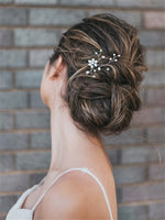 """CAMILLE"" HAND BEADED FLOWER HAIR PIN"