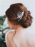 """CHELSEA"" BEADED BRIDAL COMB - EVERY BRIDE BRIDAL"