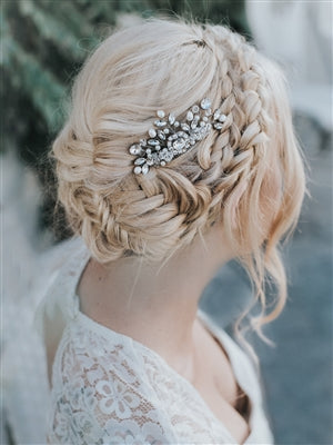 """COLLETTE"" SMALL VINTAGE BEADED HAIR COMB - EVERY BRIDE BRIDAL"