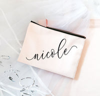 Custom Name Canvas Cosmetic Bags - EVERY BRIDE BRIDAL