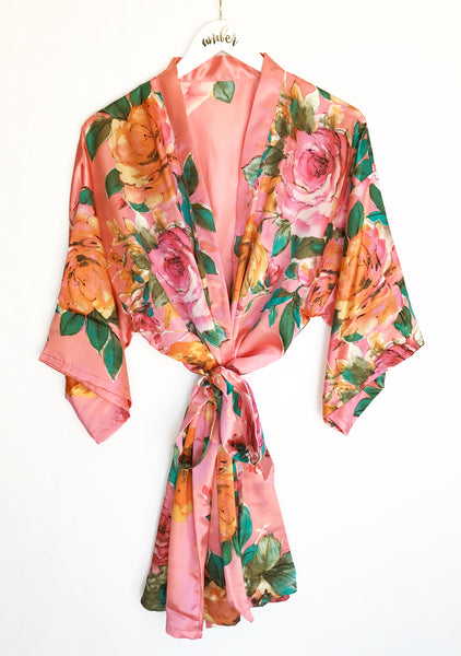 Watercolor Floral Robes - EVERY BRIDE BRIDAL