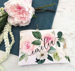 Personalized Spring Rose Cosmetic Bag