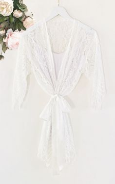 Lace Robe - EVERY BRIDE BRIDAL