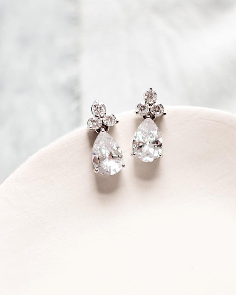 Petite Cluster CZ Earrings - EVERY BRIDE BRIDAL
