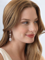 Elegant CZ Dangle Earrings - EVERY BRIDE BRIDAL