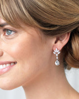 Evelyn CZ Drop Earrings - EVERY BRIDE BRIDAL