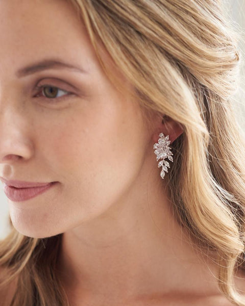 Vivian CZ Dangle Earrings - EVERY BRIDE BRIDAL