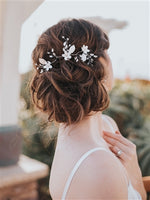 """LINDSAY"" FLOWER BRIDAL HAIR VINE - EVERY BRIDE BRIDAL"