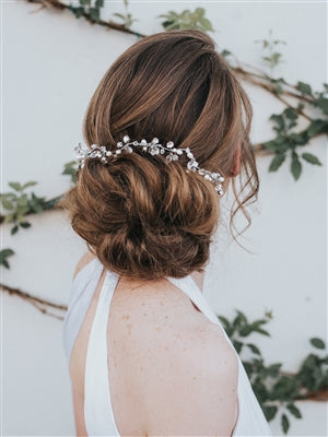 """STACY"" HAND-BEADED BRIDAL HAIR COMB"