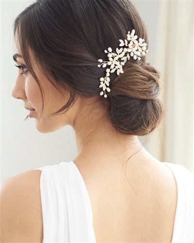 Dahlia Freshwater Pearl Comb - EVERY BRIDE BRIDAL