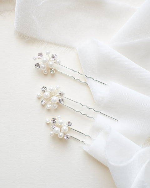 Pretty Pearl Hair Pin ( Set of 3 )