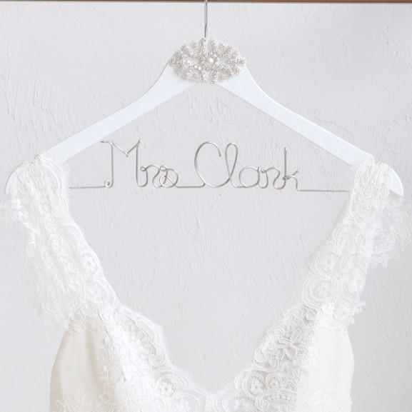 BRIDE HANGER WITH RHINESTONE APPLIQUE - EVERY BRIDE BRIDAL