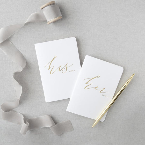 GOLD FOIL HIS & HER VOW BOOKS - EVERY BRIDE BRIDAL