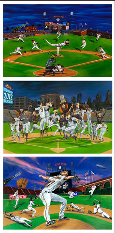 Giants 2010, 2012 and 2014 World Series Magnet Set