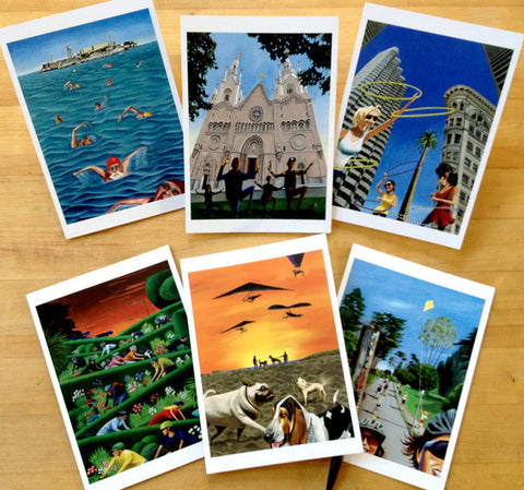 Active San Francisco Note Cards