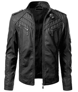 LEATHER KING black sheep leather jacket ( Model # LK0001 )