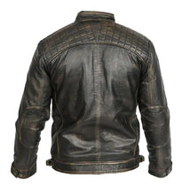 Load image into Gallery viewer, LEATHER KING Men's Vintage Biker Style Sheep Leather Jacket ( Model # LK0002 )