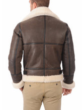 Load image into Gallery viewer, LEATHER KING Men Bomber Sheepskin Shearling  Leather Winter Jacket