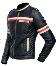 Load image into Gallery viewer, LEATHER KING Sheep Leather Quilted Style Jacket ( Model # 0008 )