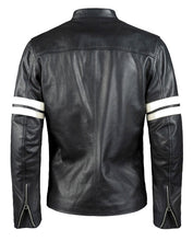 Load image into Gallery viewer, LEATHER KING Cafe Racer Style Stripes Jacket ( Model # LK0004 )