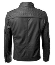 Load image into Gallery viewer, LEATHER KING black sheep leather jacket ( Model # LK0001 )