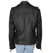 Load image into Gallery viewer, LEATHER KING Women Diamond Quilted Leather Jacket ( Model # LK0105 )