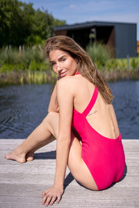 Crossed-Back Swimsuit