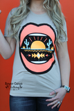 Desert Lips Graphic Top
