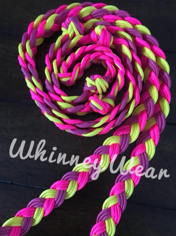 WhinneyWear Custom 8ft Pink Lemonade Solid Reins