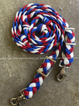 WhinneyWear Custom 8ft Patriotic Solid Reins