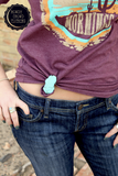 Turquoise Tee Clip / Scarf Slider