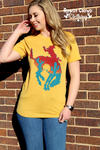 Bowie Bucking Horse Graphic Top